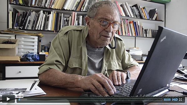 David Goldblatt is interviewed by Eva-Lotta Jansson. PHOTO: Eva-Lotta Jansson