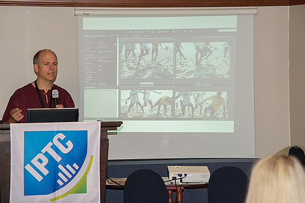 Africa Media Online's Managing Director, David Larsen, addressing the 2016 IPTC Conference on the use of the IPTC metadata schema in Africa. The International Press and Telecommunications council sets standards for industry wide metadata schemata particularly for the news and media industries, but increasingly, for the heritage sector too.