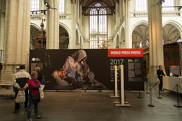 The World Press Photo Exhibition 2017 at De Nieuwe Kerk, Amsterdam, earlier this year.