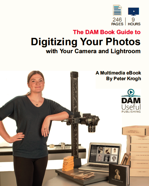"The front cover of Peter Krogh's book ""Digitizing Your Photos with Your Camera and Lightroom."